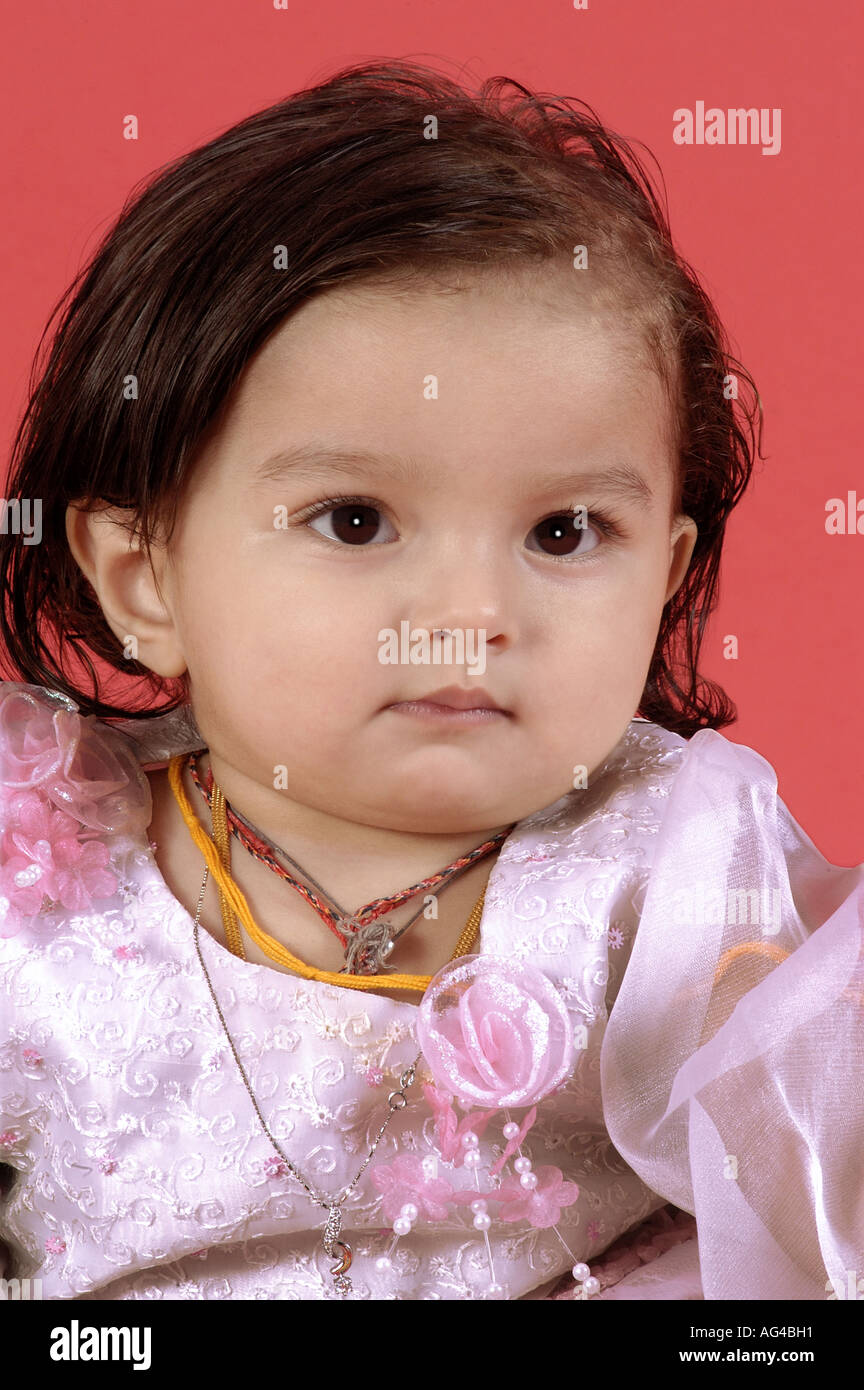 hma79239 south asian indian small baby girl child in different moods