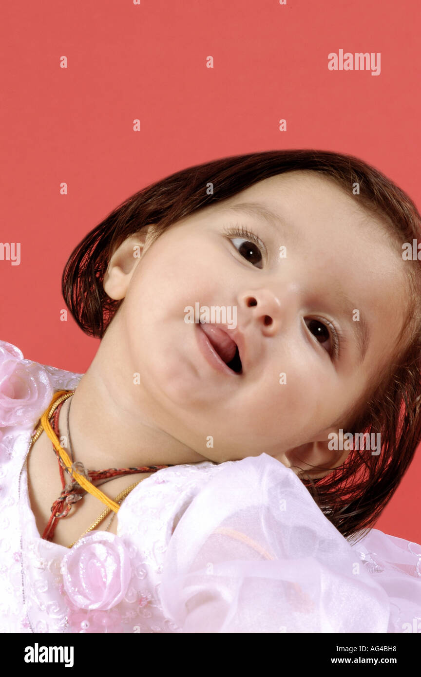 hma79244 south asian indian small baby girl child in different moods