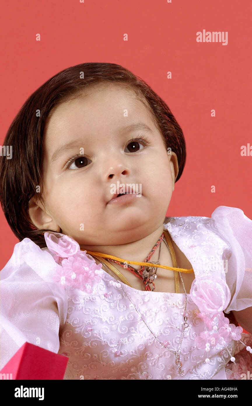 hma79245 south asian indian small baby girl child in different moods