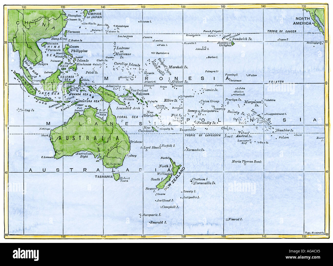 South Pacific Ocean Map Stock Photos & South Pacific Ocean Map Stock ...