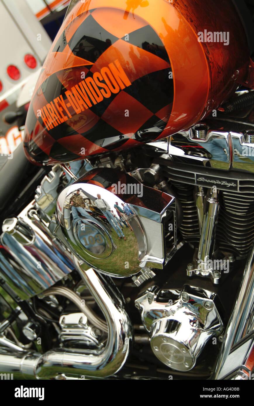 Harley Davidson With Custom Paint Job America Motorcycle Motor Cycle Bike Motorbike V Twin