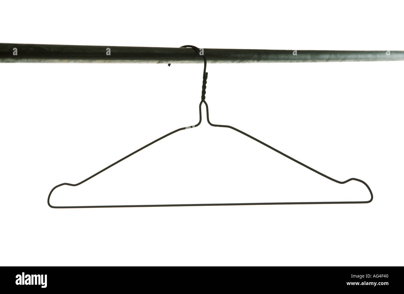 wire coat hanger against a white background Stock Photo: 1068863 - Alamy