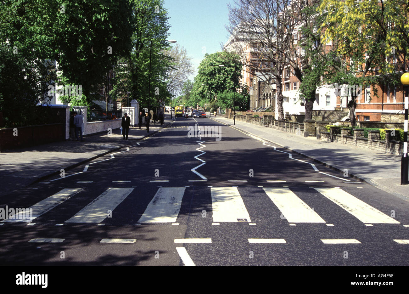 The Zebra Crossing Outside Abbey Road Studios Featured On Cover Of Beatles