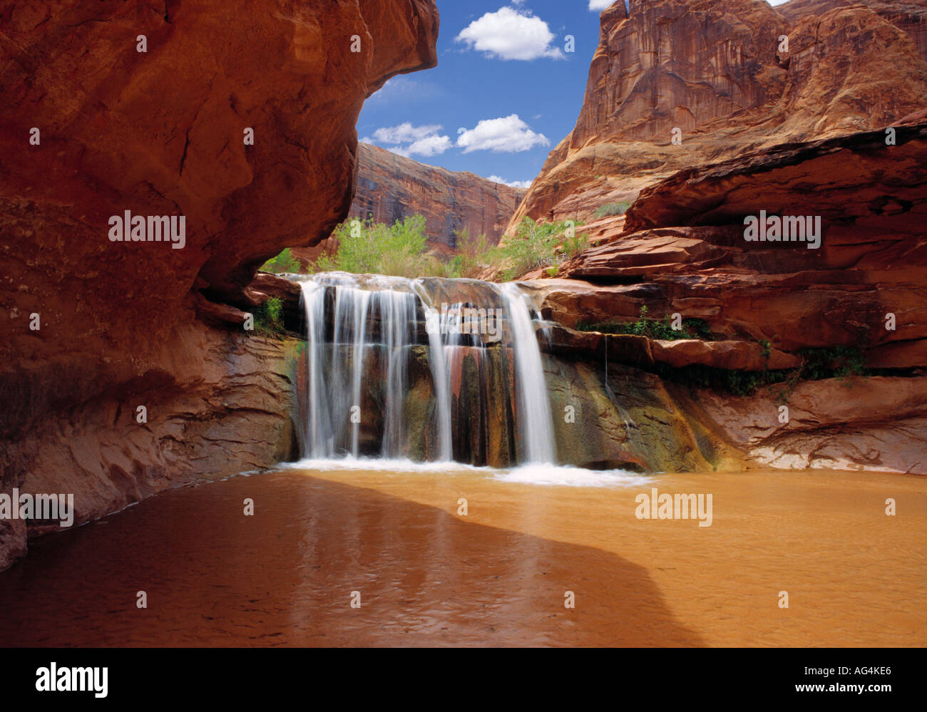 Waterfall In Coyote Gulch Part Of Grand Staircase Escalante National