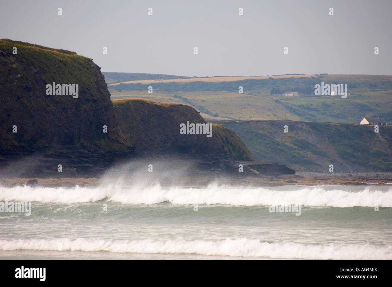 Lahinch beach Co Clare - Stock Image