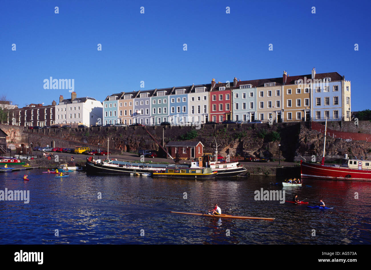 Historic Docklands Area Bristol Avon England - Stock Image