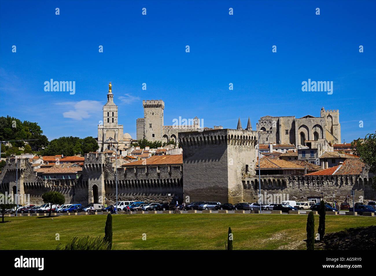 Avignon Papstresidenz Alpes Cote d Azur Palais des papes - Stock Image