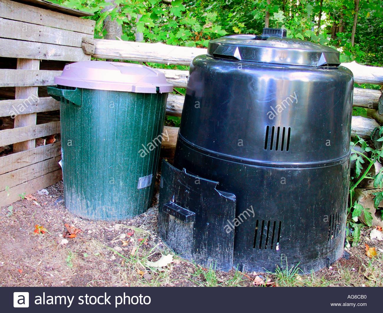 Garden Kitchen Materials Composter Recycling Stock Photos & Garden ...