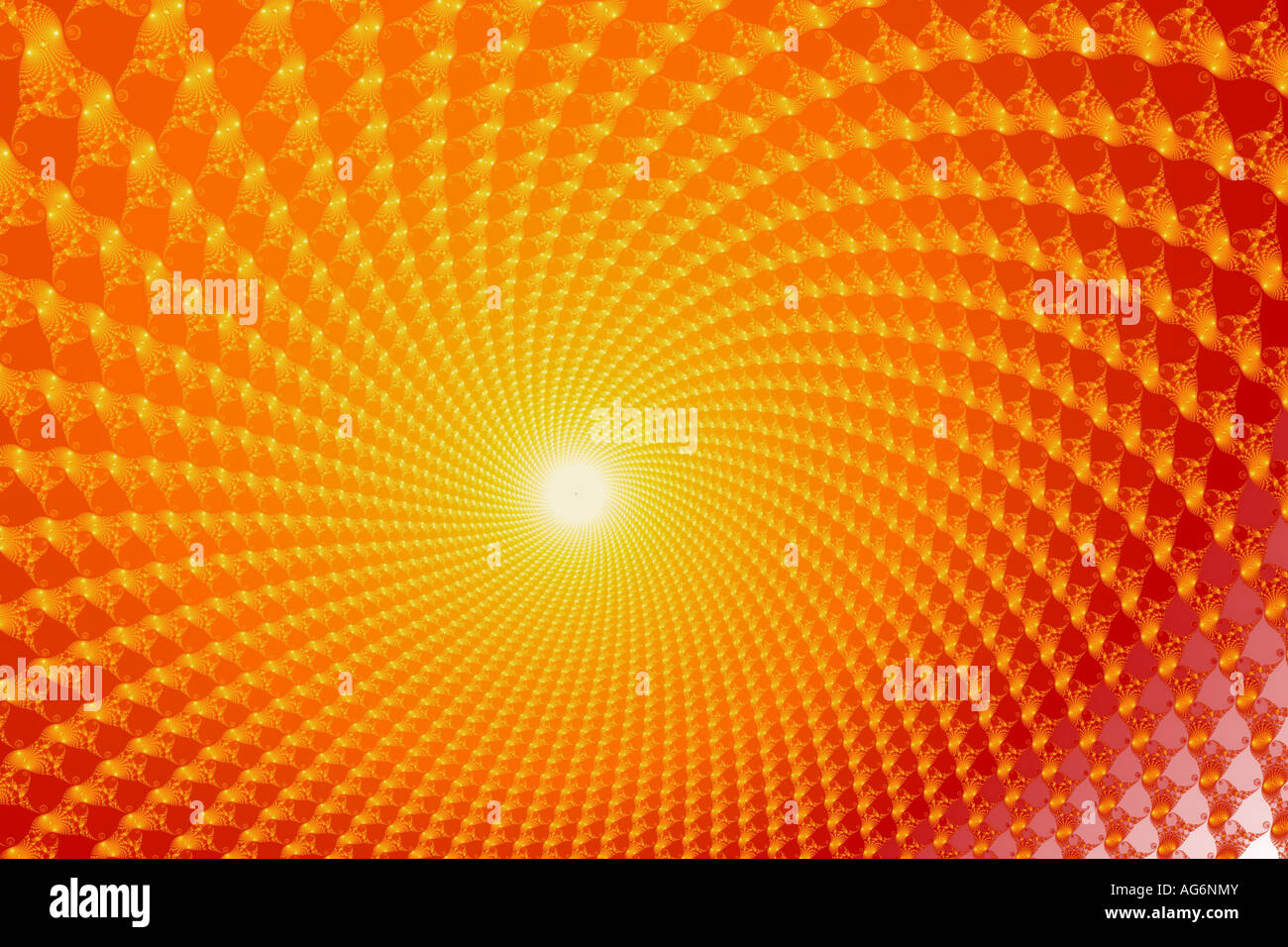 Here comes the fractal sun! Stock Photo