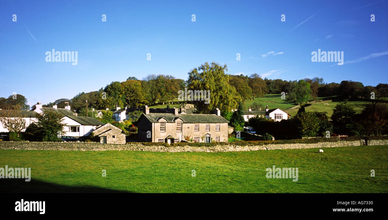 The village of Sawrey in Cumbria in the English Lake District famous for its association with the writer Beatrix Potter - Stock Image