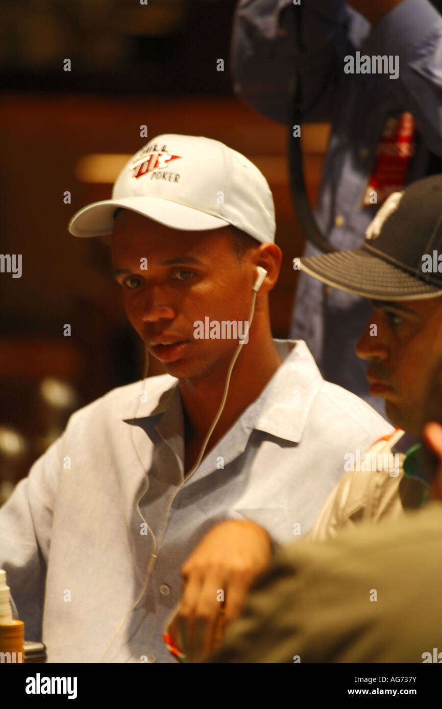 Poker player Phil Ivey at the WPT Mirage Showdown poker tournament Mirage Hotel and Casino Las Vegas Strip Nevada - Stock Image