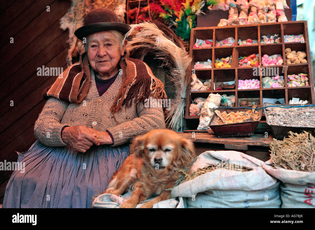 Sales Women At The Witches Market La Paz Bolivia Stock Photo Alamy