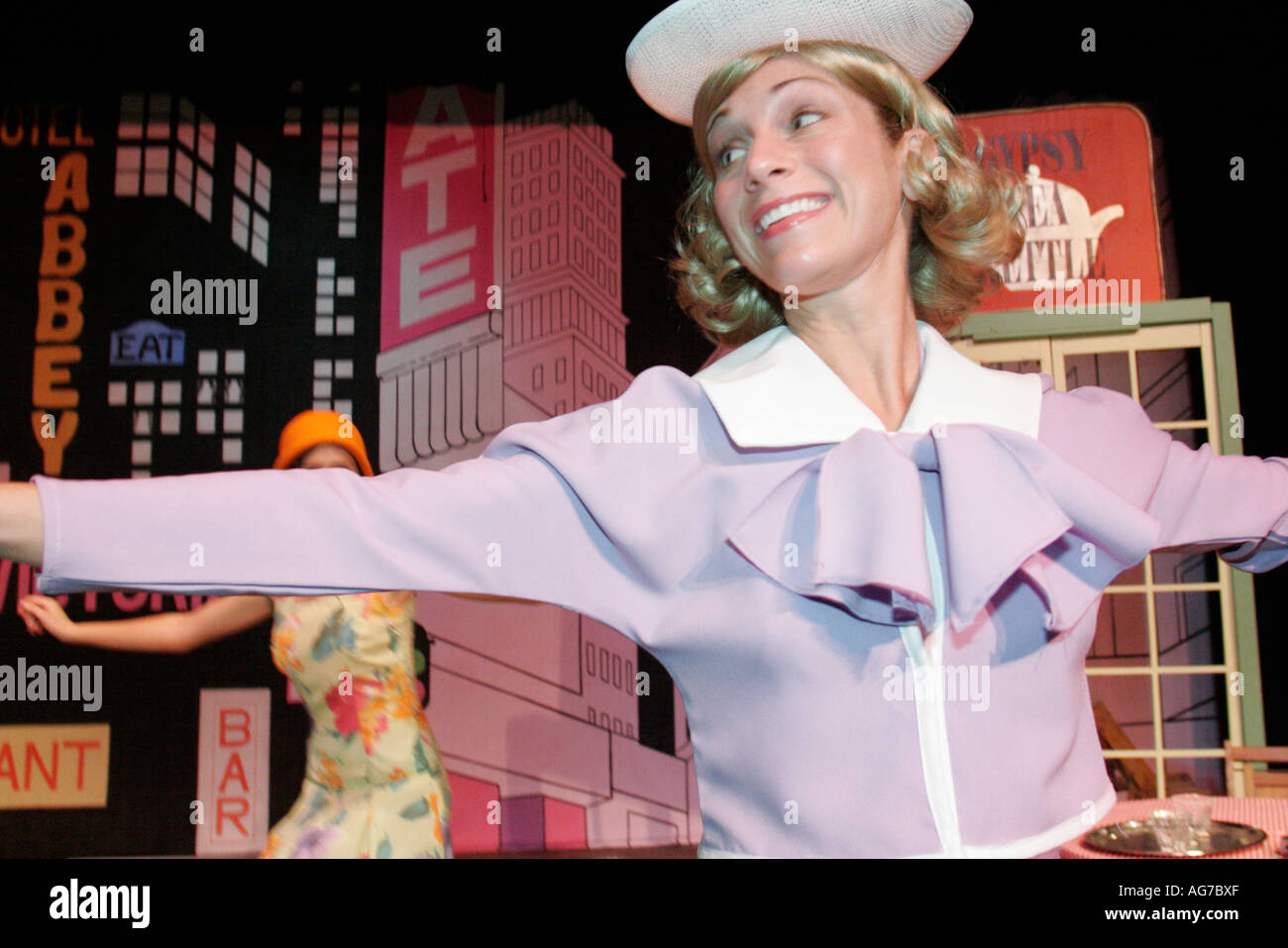 Alabama Guntersville The Whole Backstage Theater 42nd Street community actor actress singer perform stage - Stock Image