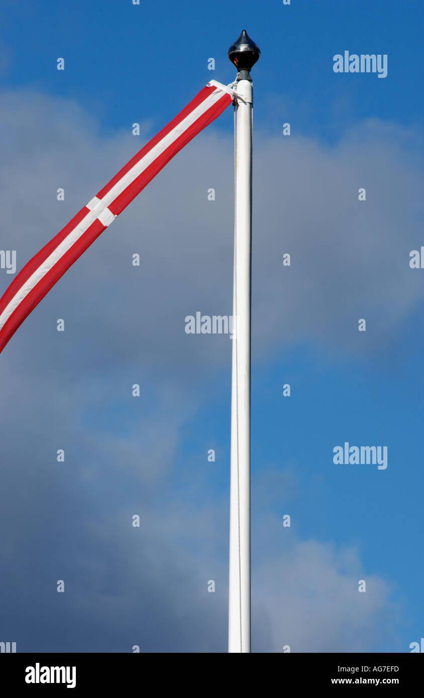 Dannebrog vimpel flag Danish flag Photo Heine Pedersen HEI 01416 TIF - Stock Image