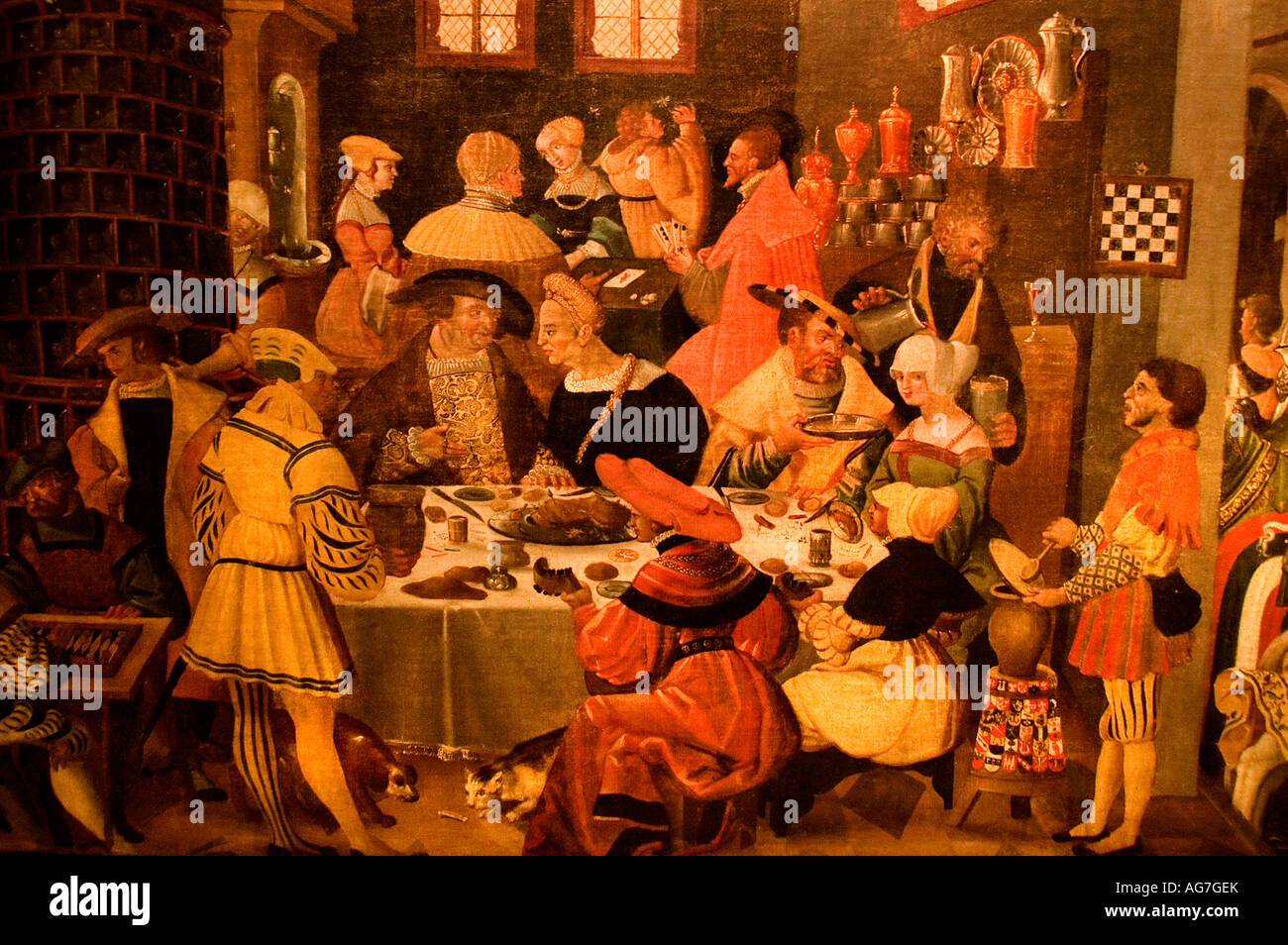 Ausburgs Monthly pictures by Jorg Breu Augsburg  1531 German Germany - Stock Image
