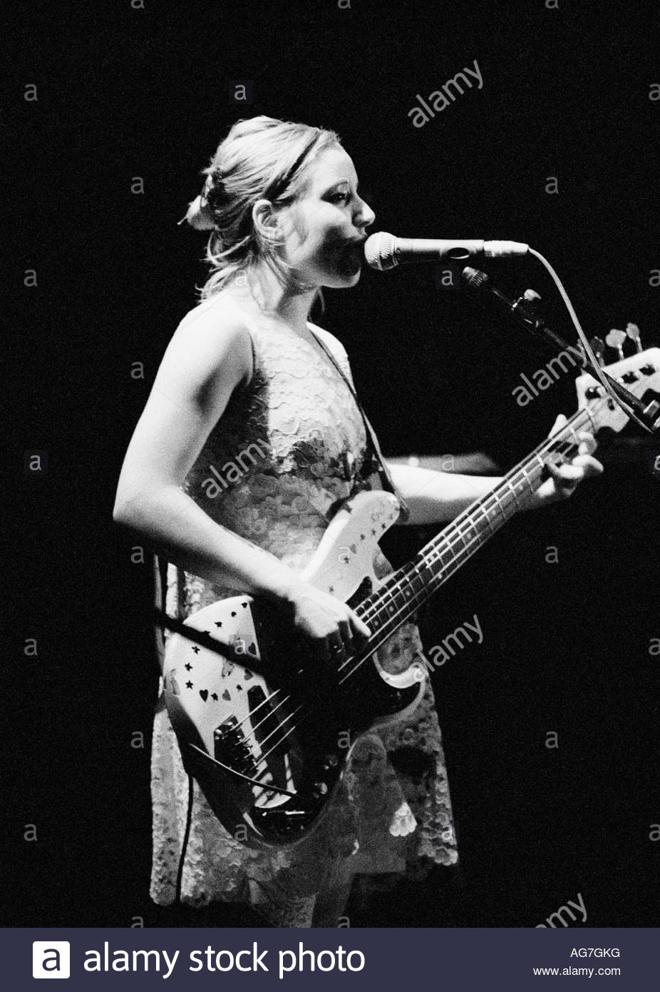 Gina Birch, vocalist and bassist with the Raincoats - Stock Image