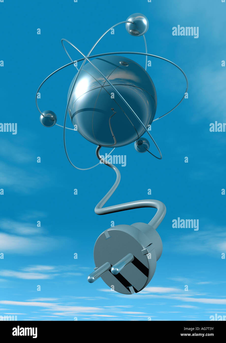 nuclear energy Kernenergie Atomstrom Stock Photo