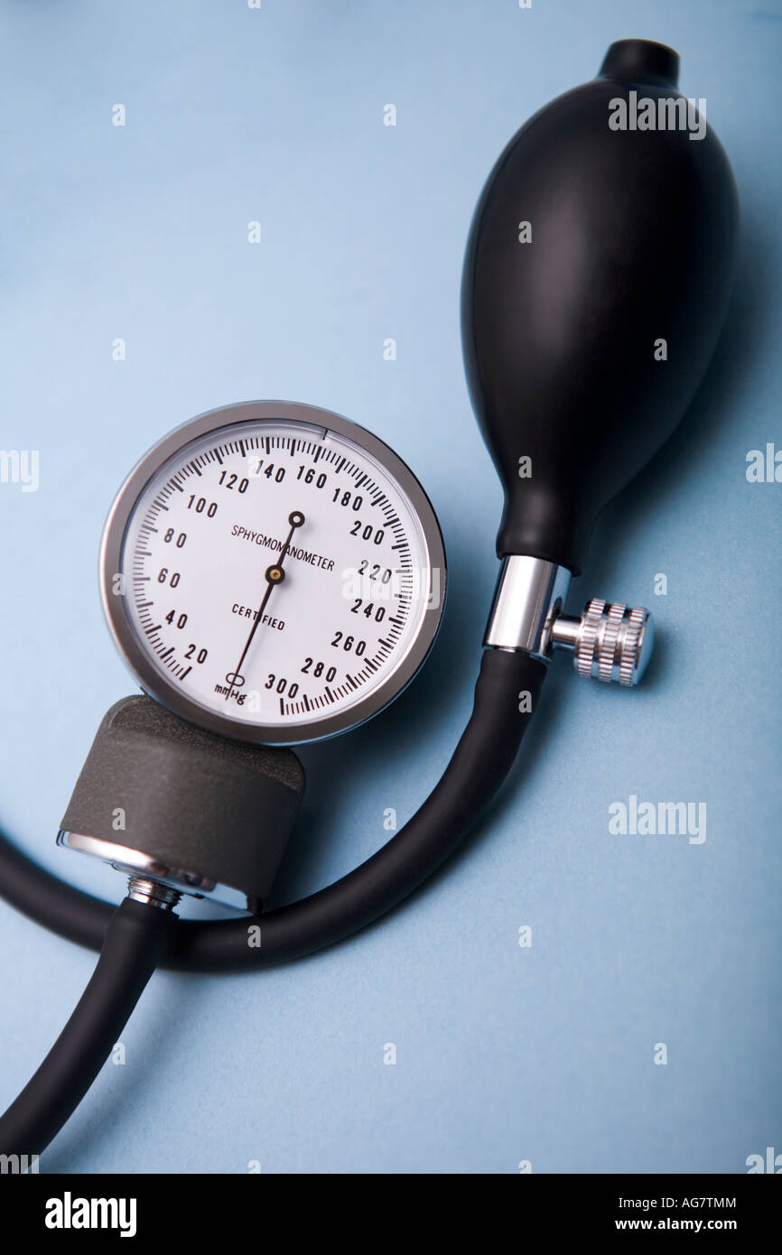 Blood pressure machine - Stock Image