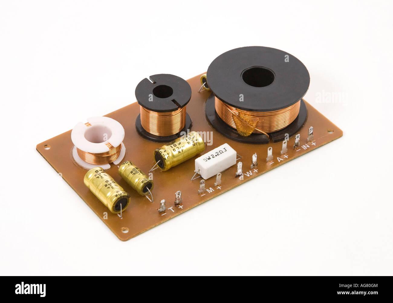 loudspeaker crossover - Stock Image