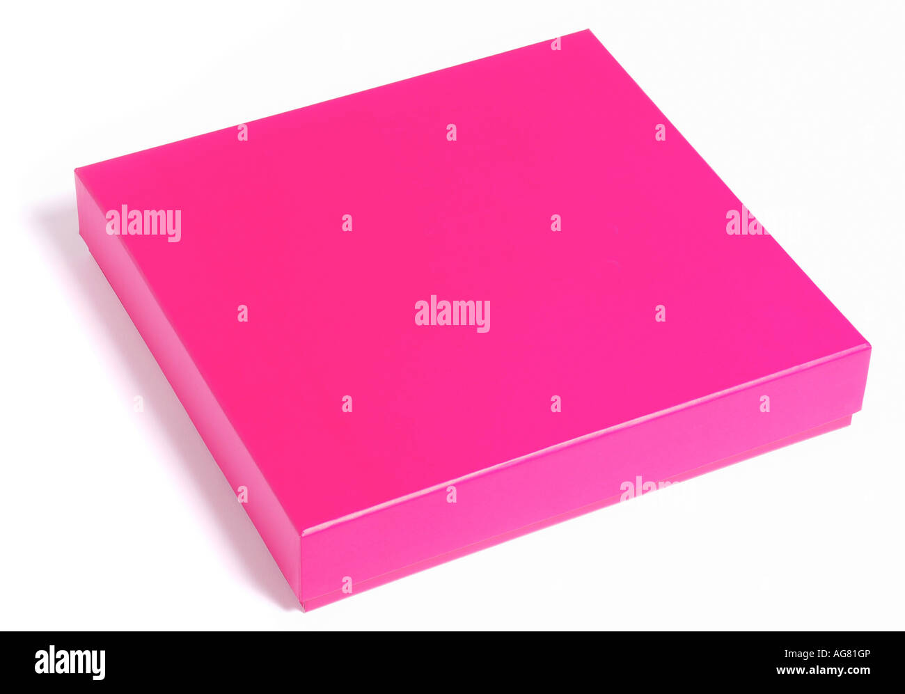 Pink gift box. Picture by Paddy McGuinness paddymcguinness - Stock Image