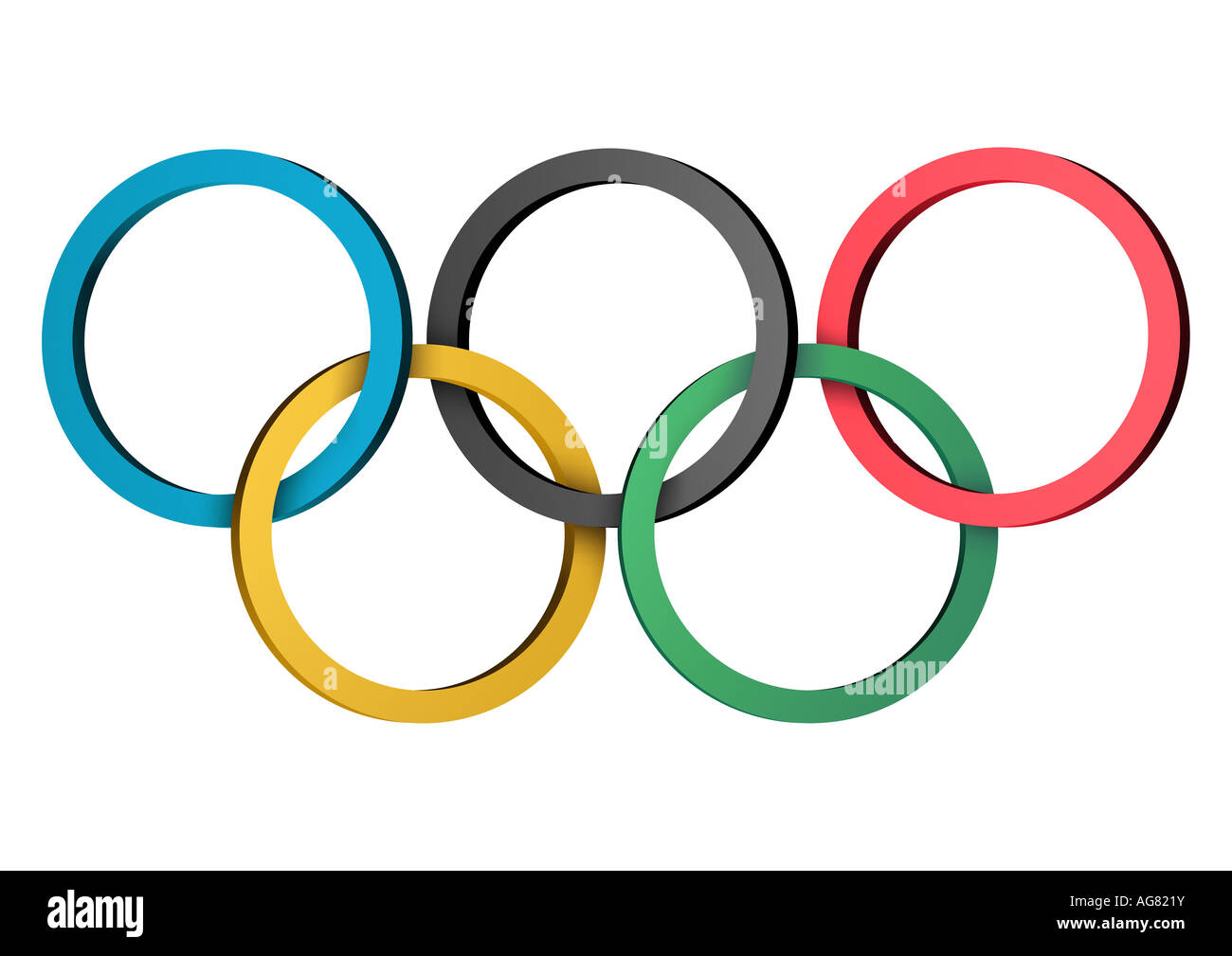 Olympische Ringe nur redaktionell verwendbar Olympic rings for editorial use only - Stock Image