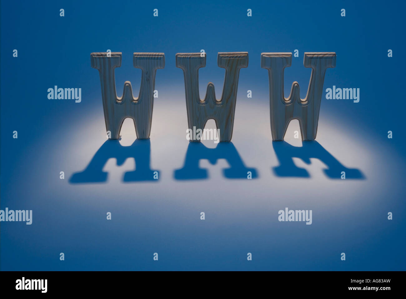 Abbreviation for the World Wide Web - Stock Image
