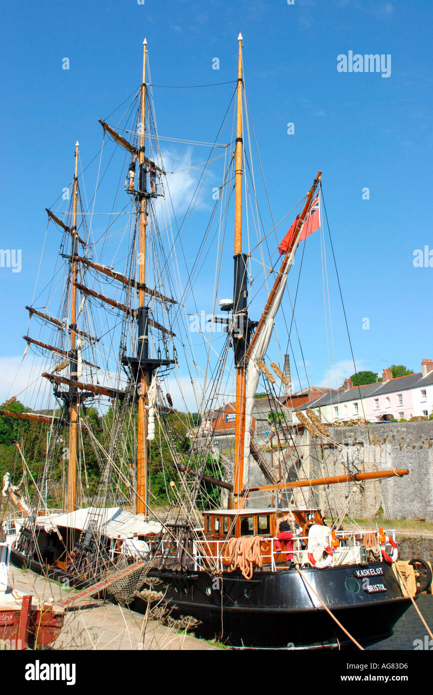 a tall ship no property release - Stock Image