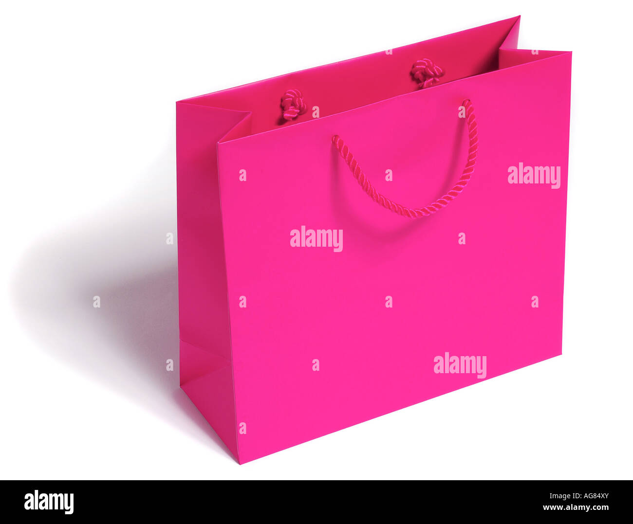 Pink gift bag. Picture by Paddy McGuinness paddymcguinness - Stock Image