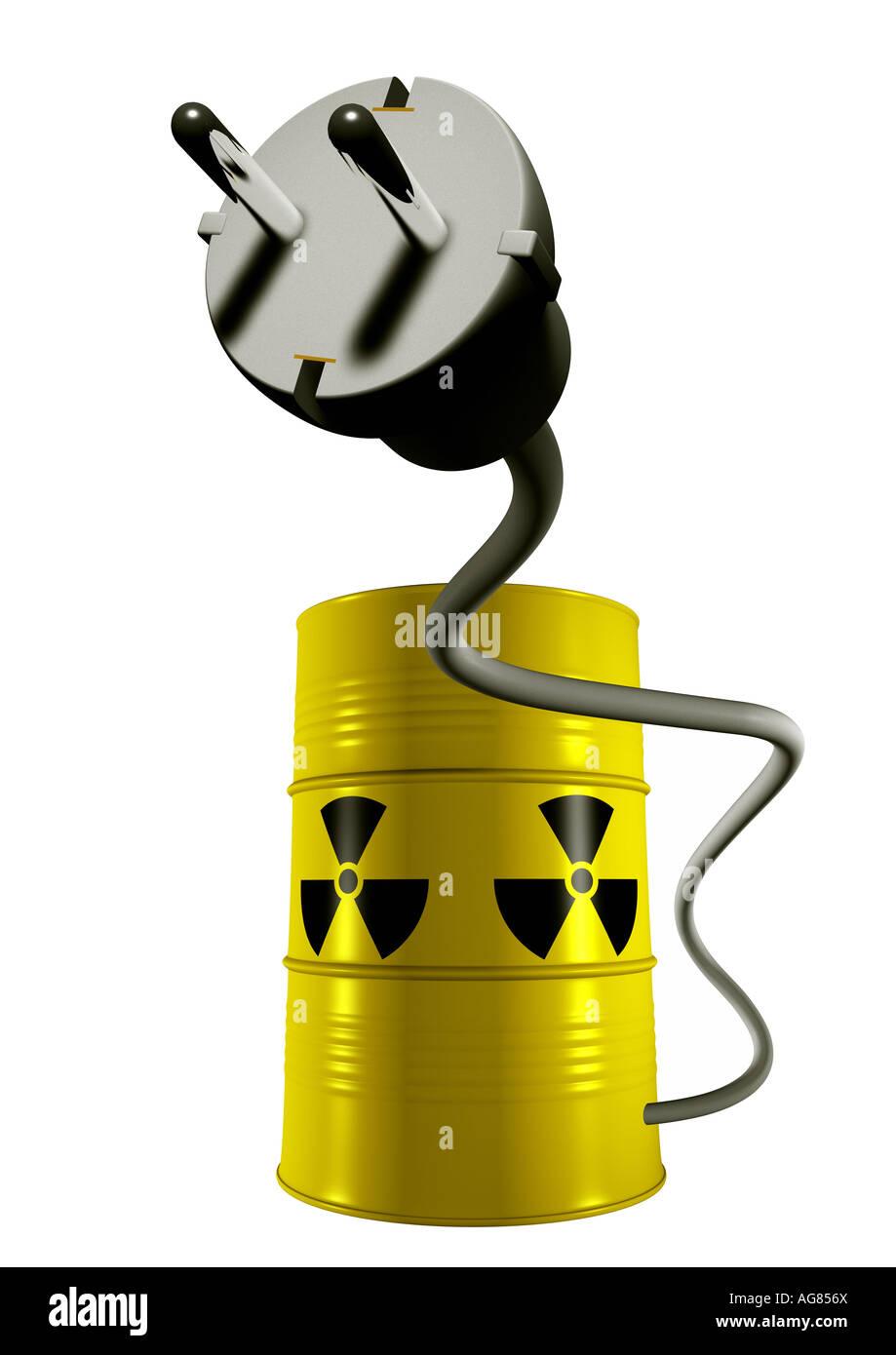 nuclear energy Kernenergie Atomkraft - Stock Image