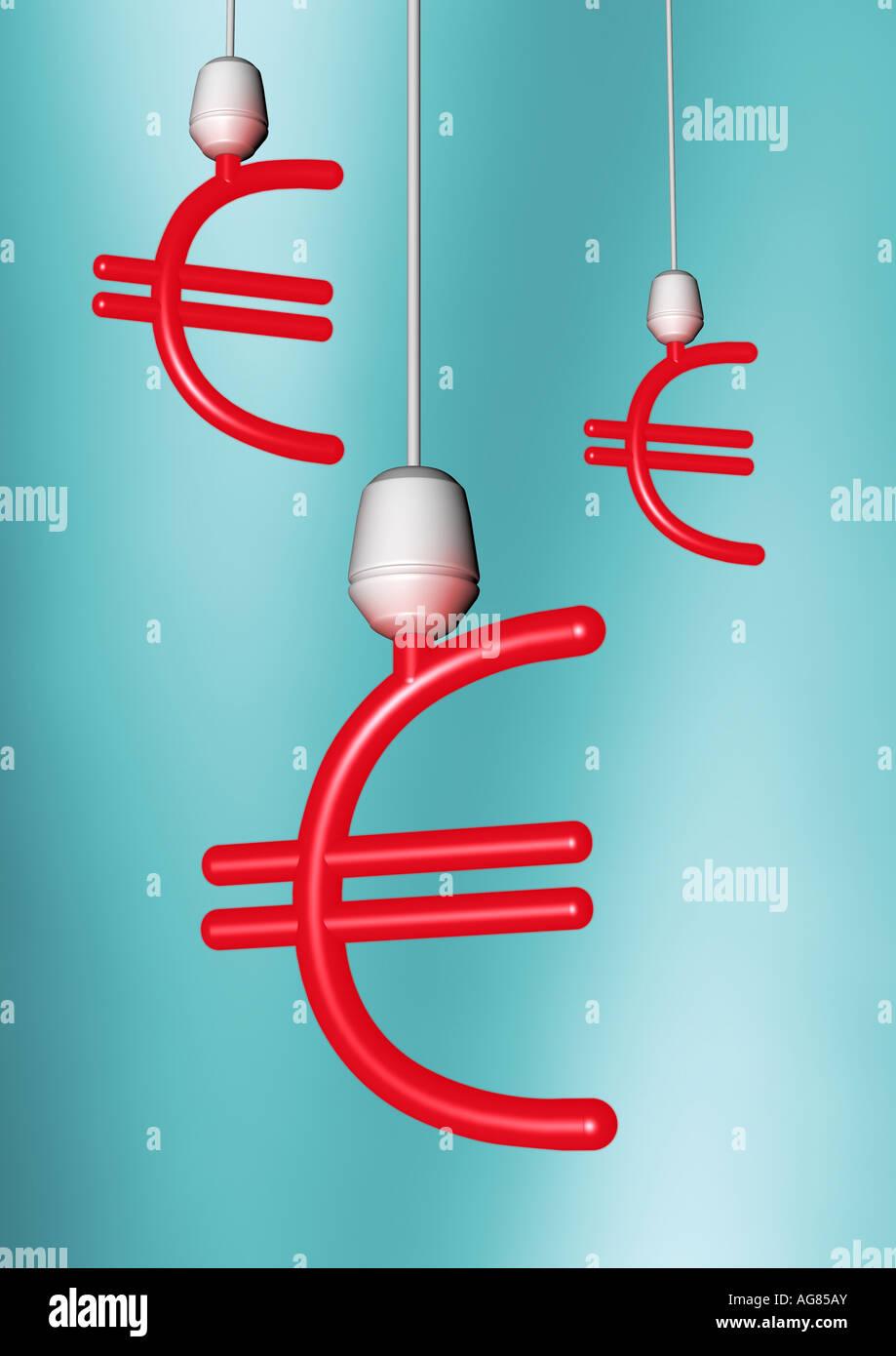 energy saving lamp Energiesparlampe - Stock Image