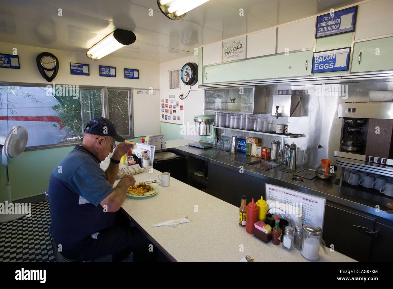 Interior of Dots Diner Shady Dell RV Park Bisbee Arizona