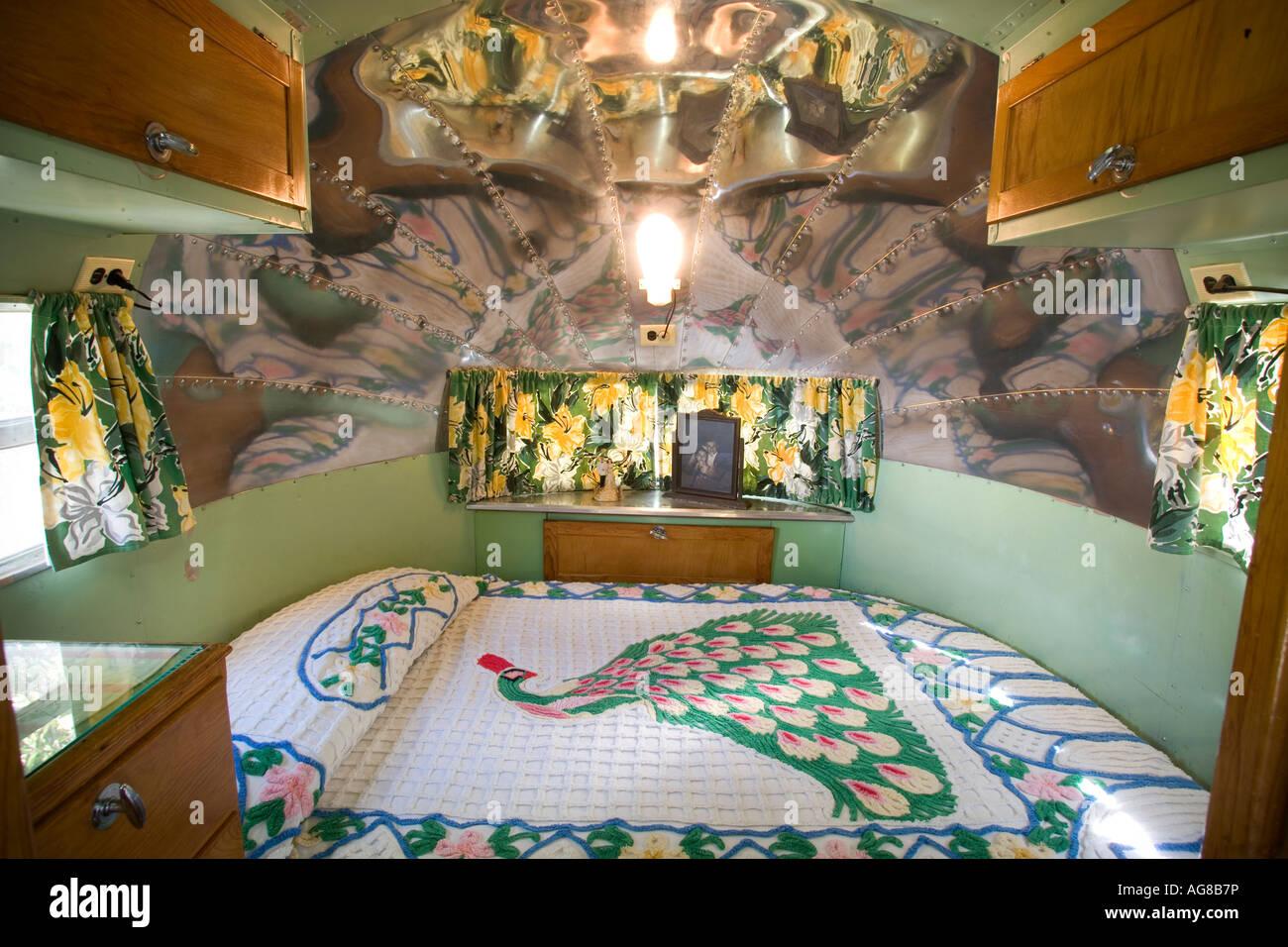 Interior Of The 1949 Airstream Trailer Shady Dell RV Park Bisbee Arizona