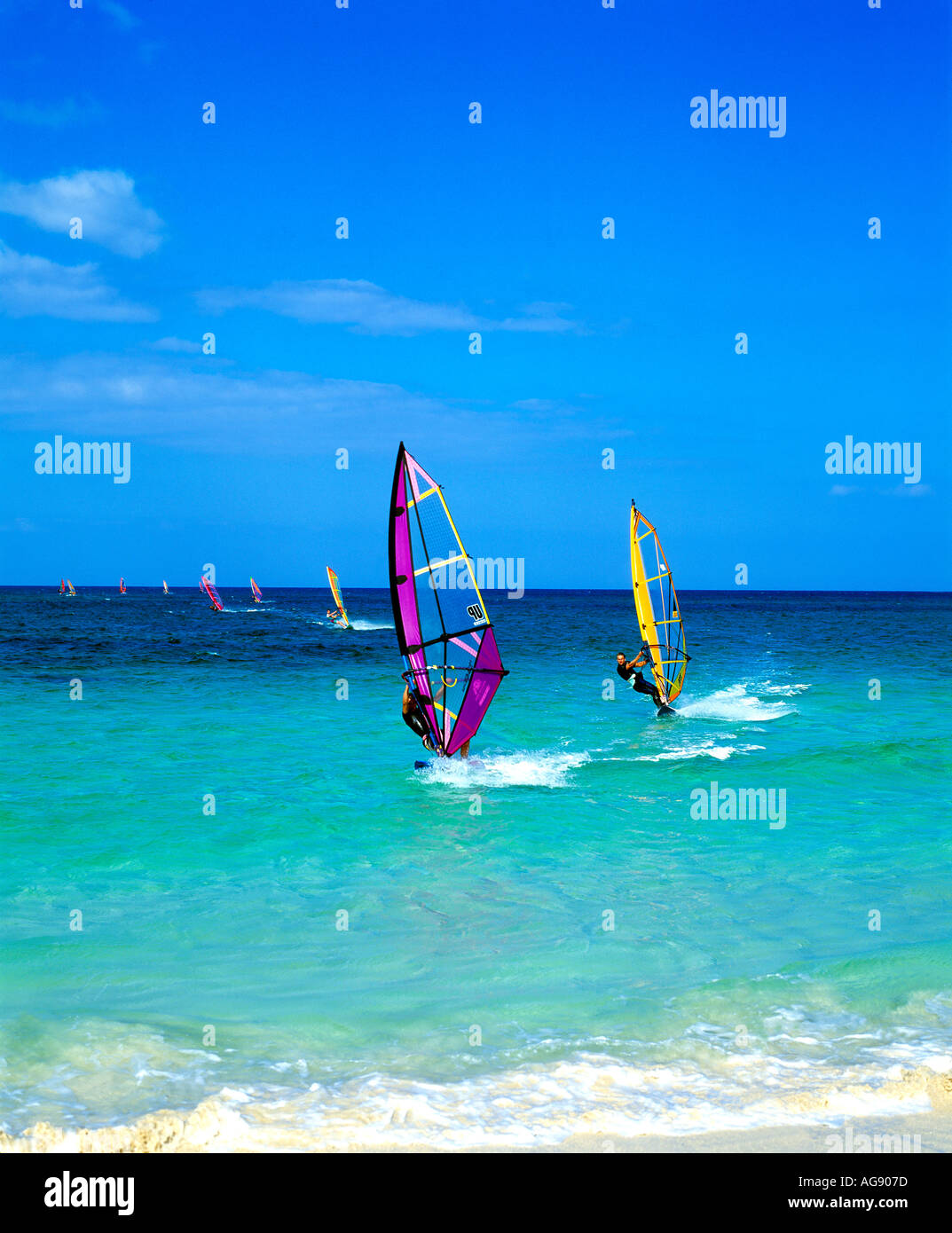 Water Sports, Windsurfing - Stock Image