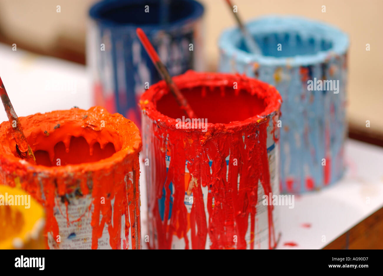 Still Life, Paint Cans - Stock Image