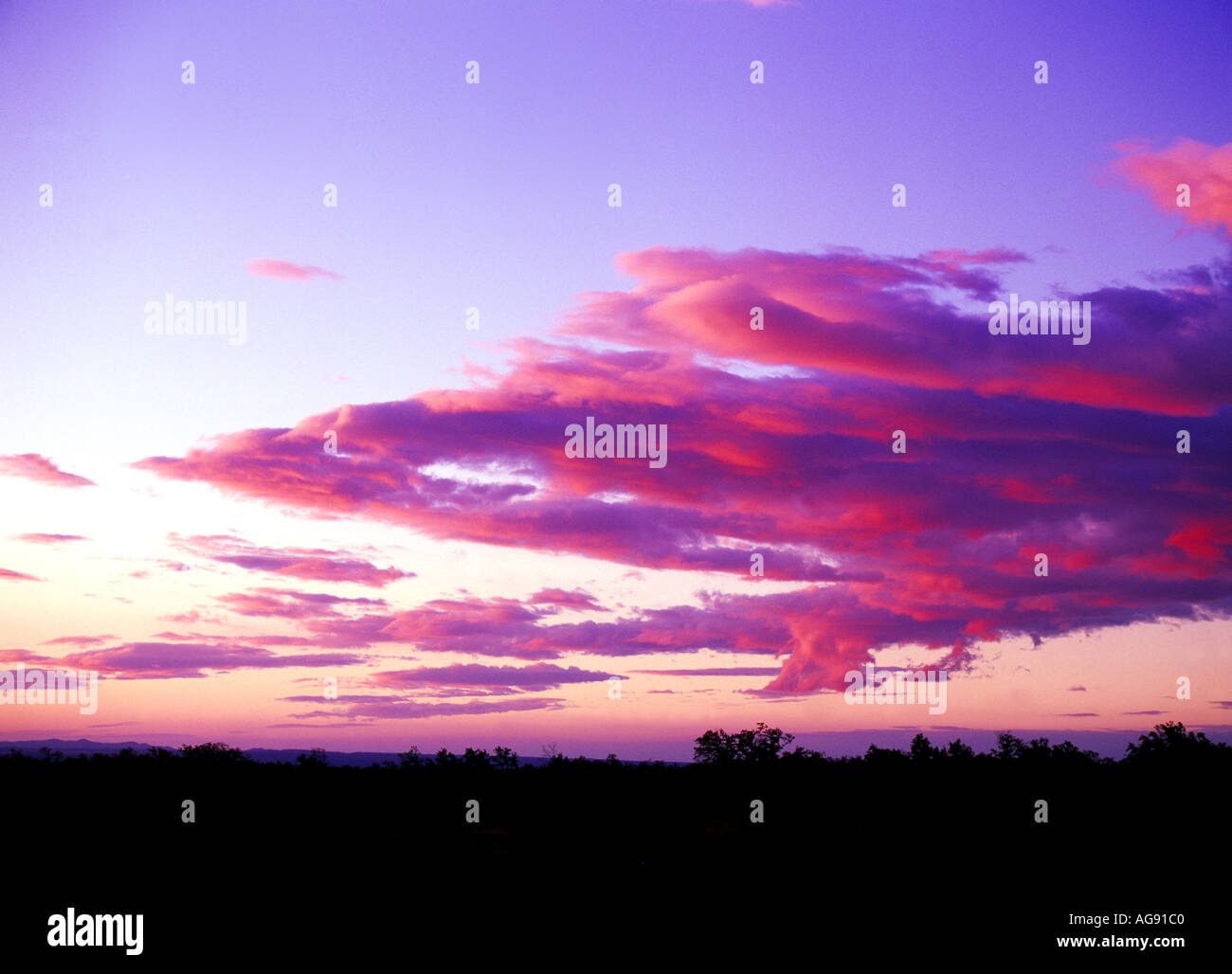 Sky, Sunset, Clouds - Stock Image