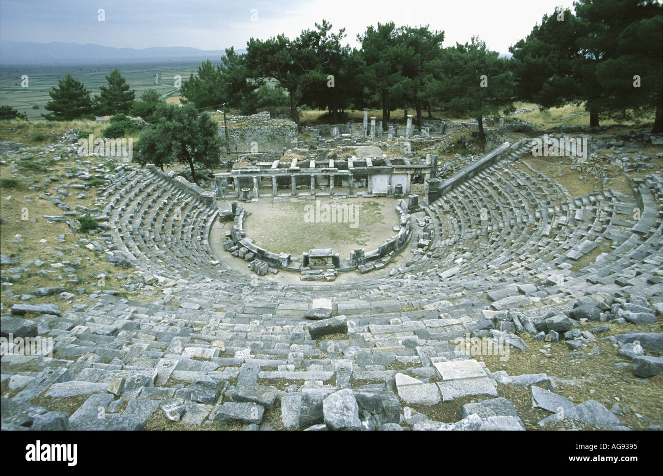 Theatre Priene nr Kusadasi Turkey Stock Photo