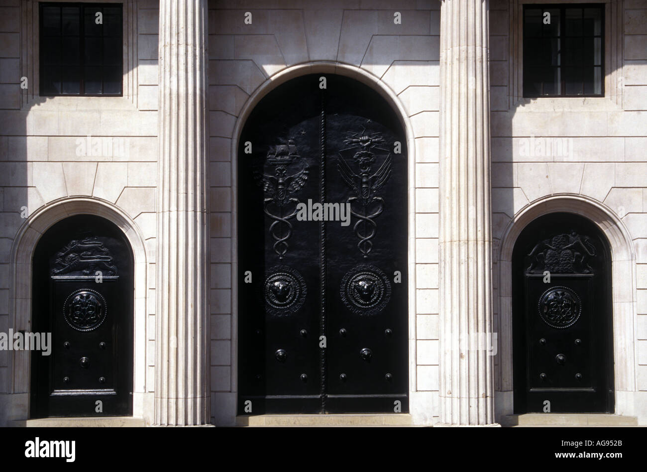 Entrance doors to the Bank of England City of London - Stock Image