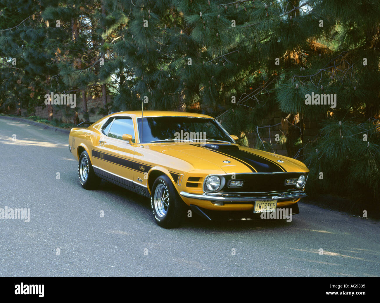 1970 ford mustang twister stock image