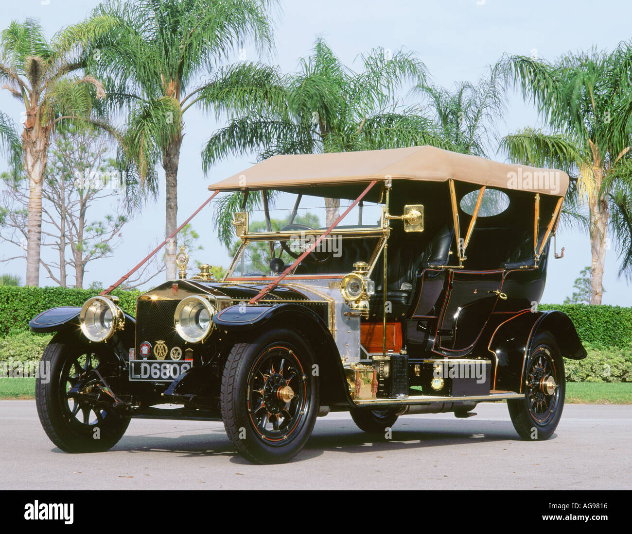 1909 rolls royce silver ghost roi des belges stock photo for Silver cloud balloons