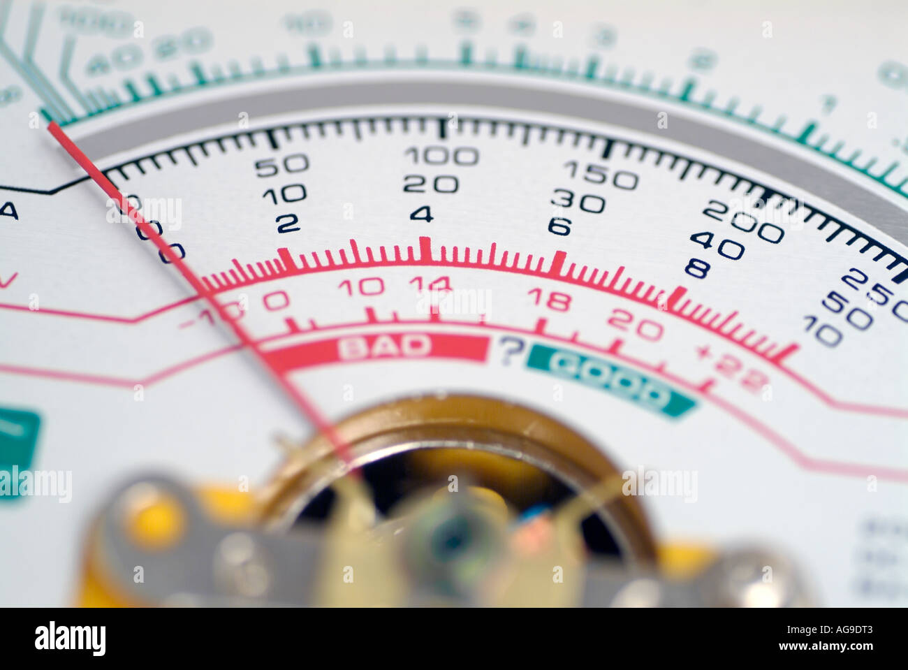 Analogue Needle Display of an Electronic Multimeter - Stock Image