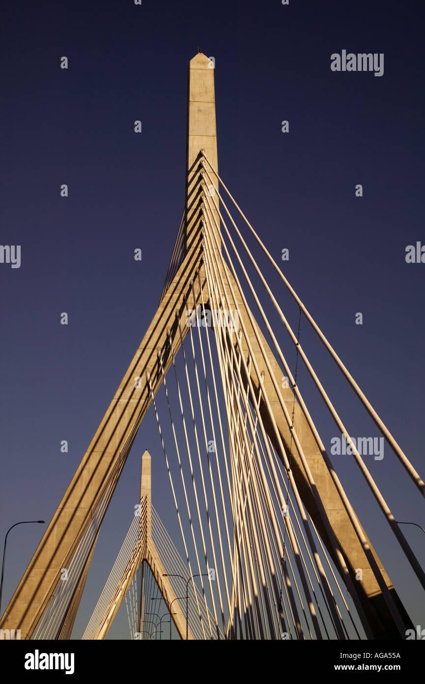 Leonard Zakim Bridge Boston MA Stock Photo