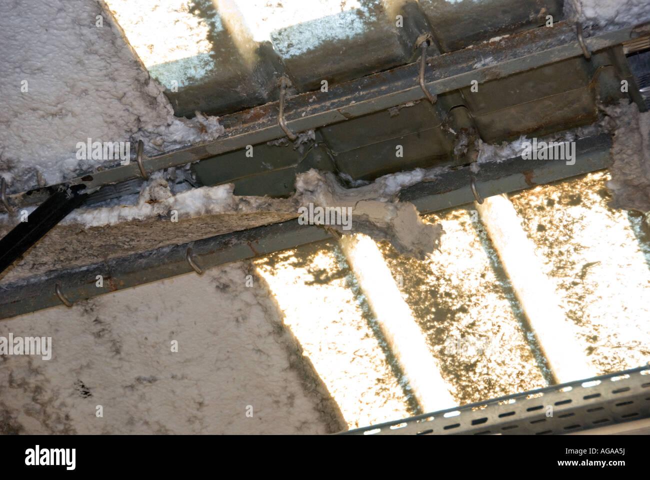 Disintegration Of Asbestos Insulated Roof