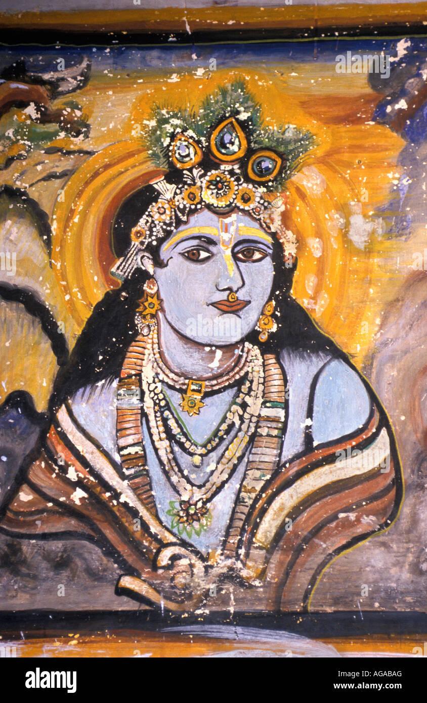 India, Varanasi, Shiva image Stock Photo