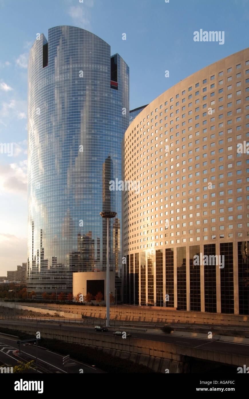 Paris La Defense Business Area Modern Architecture Office Buildings