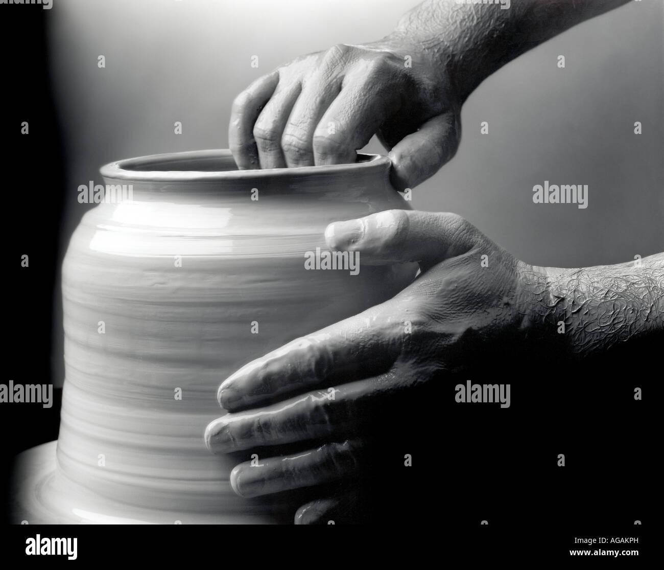 pottery wheel - Stock Image