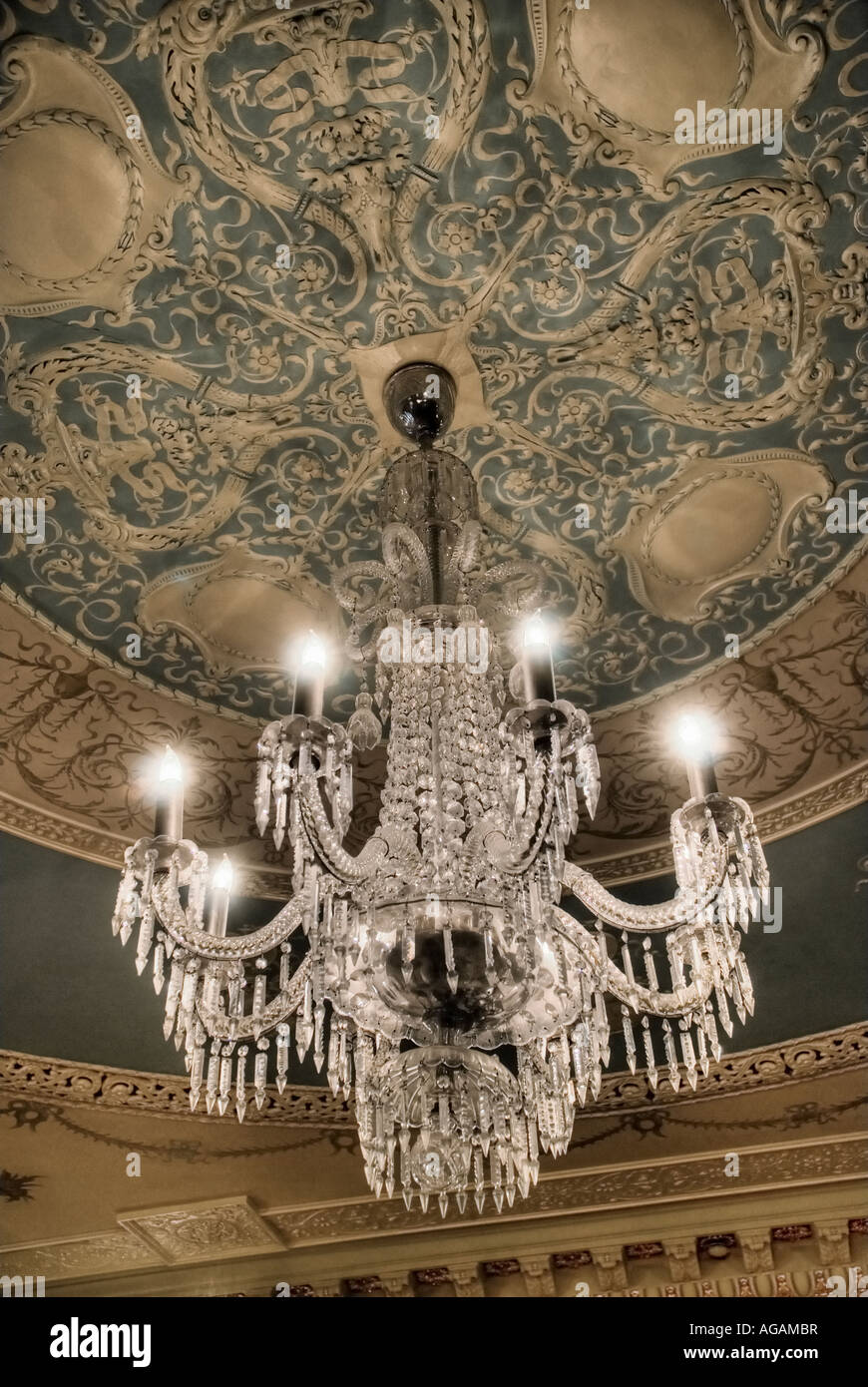 Tiffany Austrian Crystal Chandelier In The Grand Parlor Flagler Room At College St Augustine Florida