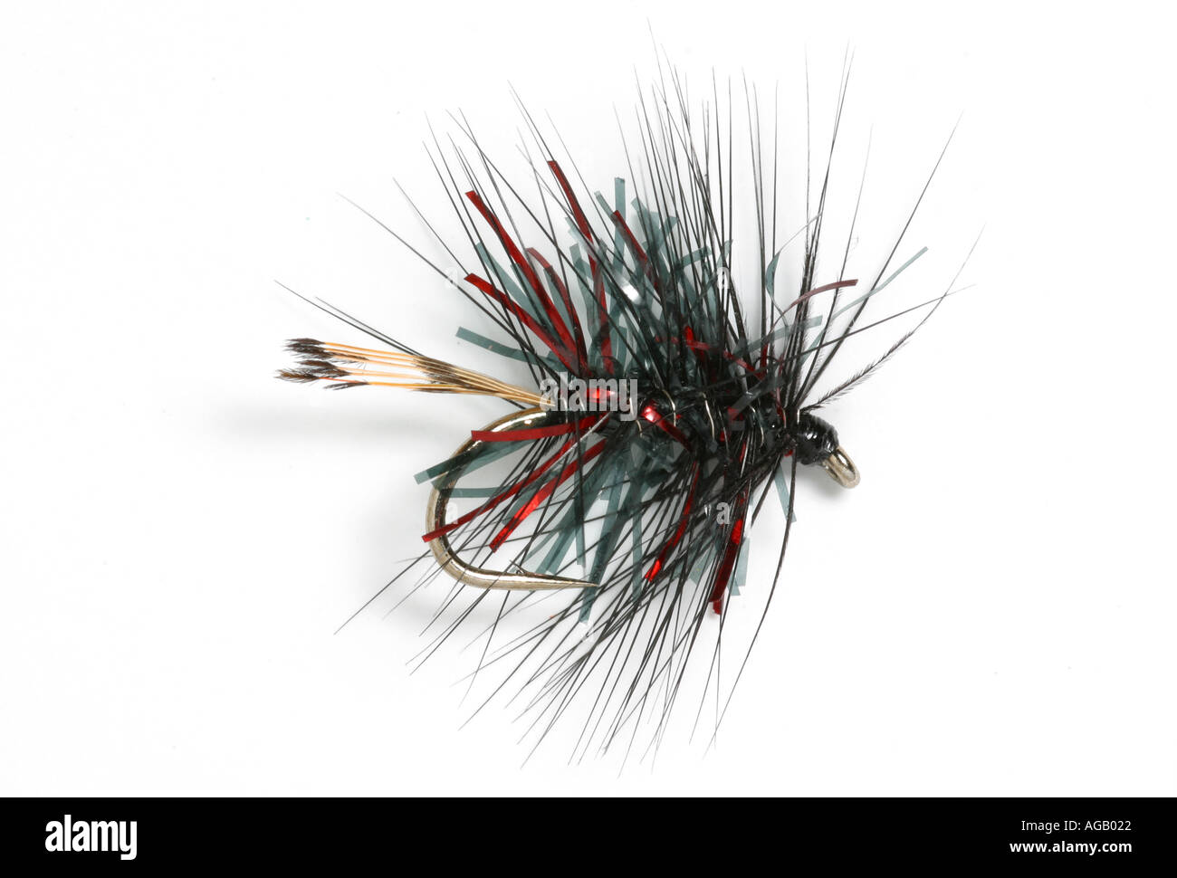 fishing fly Glacier Bibio made with Crystal Chenille Trout fly - Stock Image