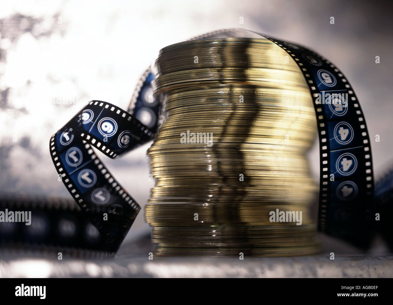 CD and Film - Stock Image