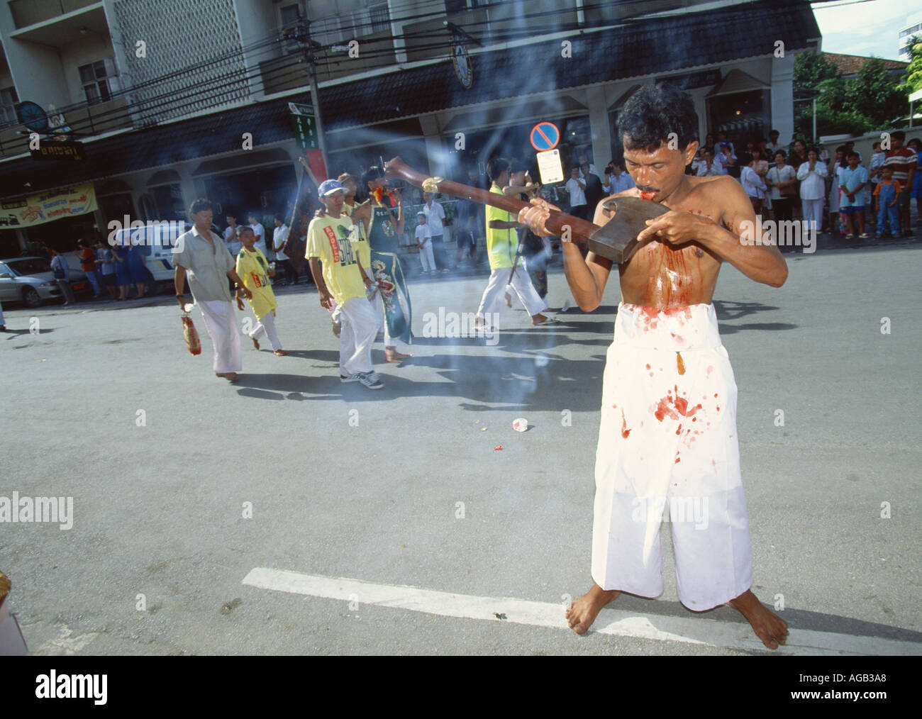 THAI TORTURE FESTIVAL - Stock Image