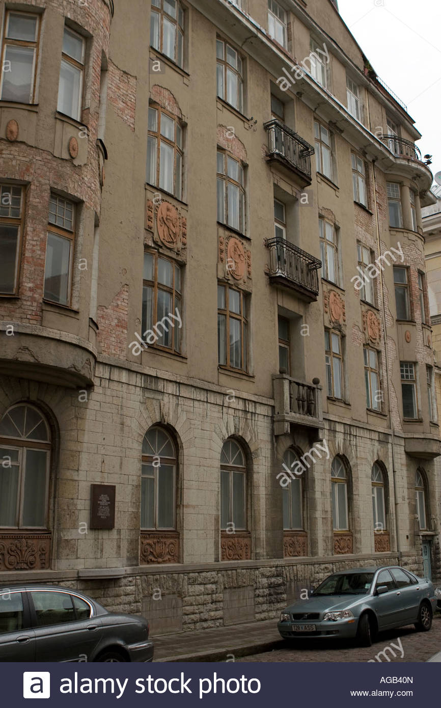 The former KGB HQ from the Soviet era in Tallinn. - Stock Image